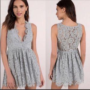 Tobi lace overlay sleeveless dress cocktail dress